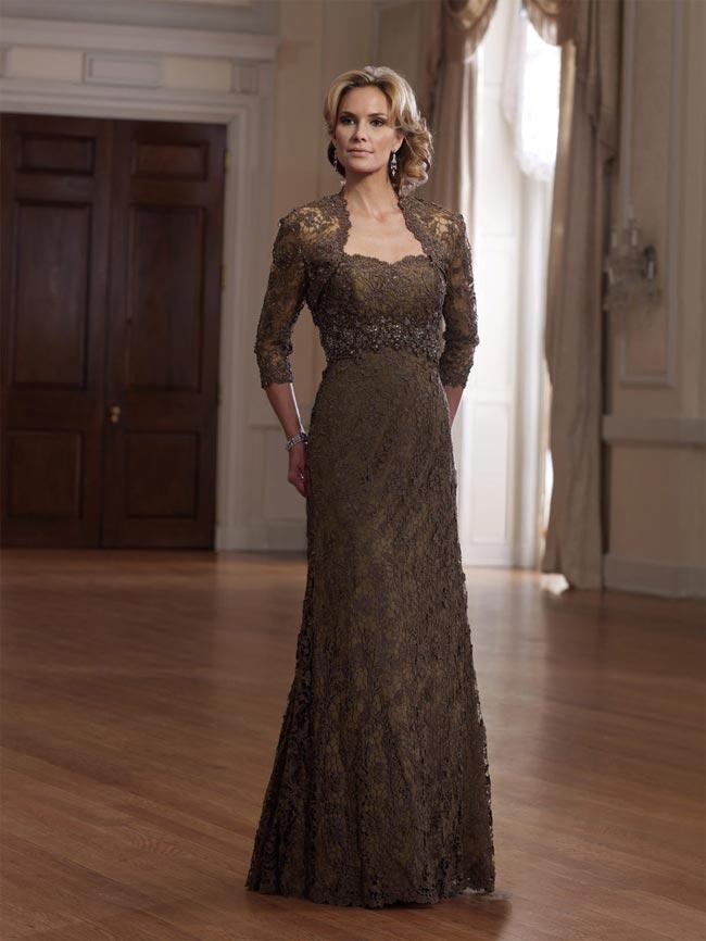 شیک ترین لباس های مجلسی زنانه با کت کوتاه و رنگ قهوه ای گیپوری